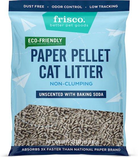 Frisco paper pellet cat litter