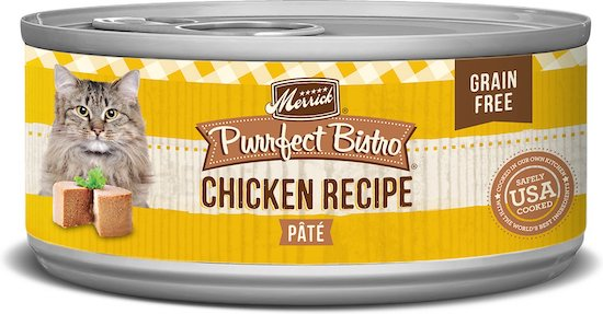 Merrick Purrfect Bistro wet cat food, chicken recipe