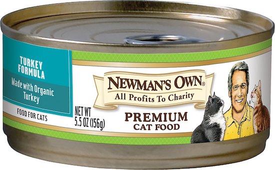 Newmans Own turkey formula wet cat food