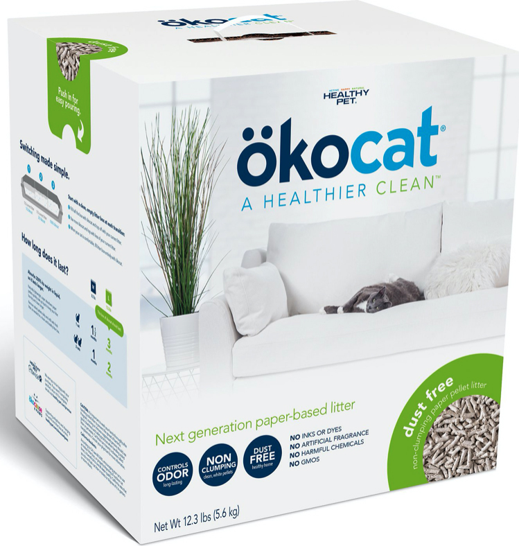 Okocat dust-free litter