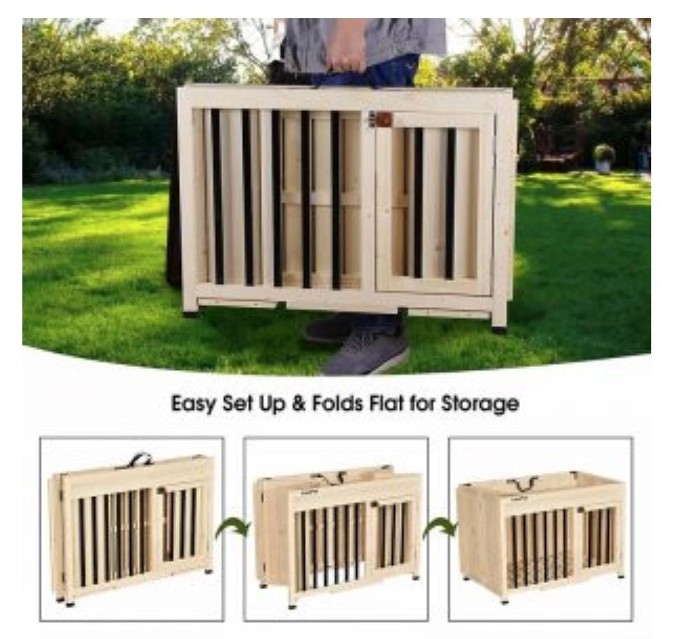 Wooden folding box