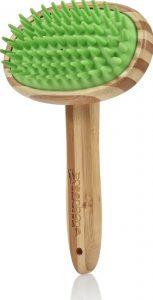 Greenbone bamboo and silicone dog massage tool