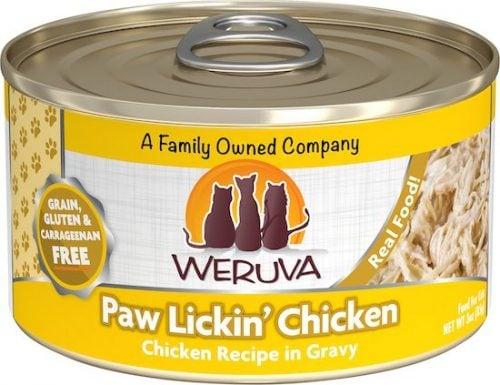 can of Weruva chicken-flavored healthiest cat food