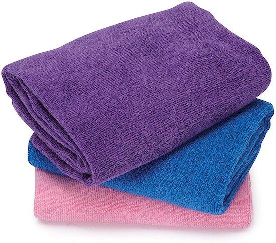 set of microfiber towels for cat grooming