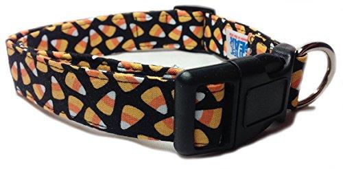CritterGear candy corn print Halloween dog collar