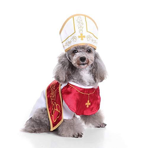 dog in pope costume