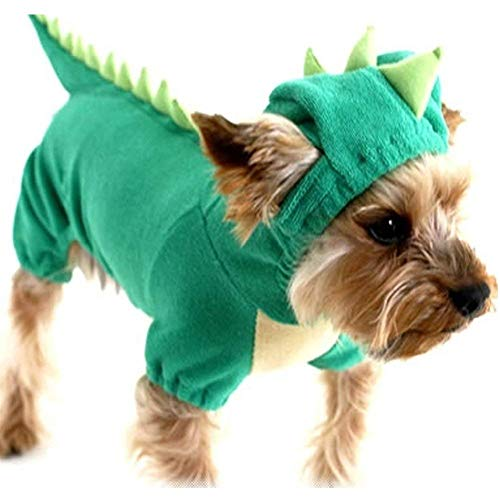 Hotumn dinosaur dog hoodie