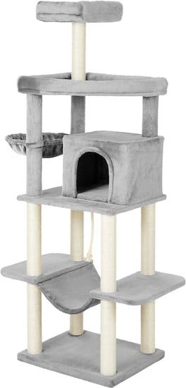 light gray Frisco cat tower