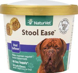 NaturVet Stool Ease fiber supplement chews for dogs
