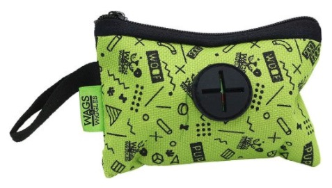 Wags & Wiggles neon green poop bag holder