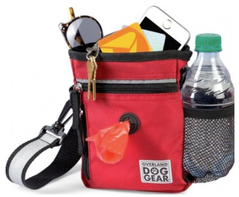Mobile dog gear red cross-strap essentials bag