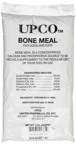 pack of Upco bone meal dog food supplement
