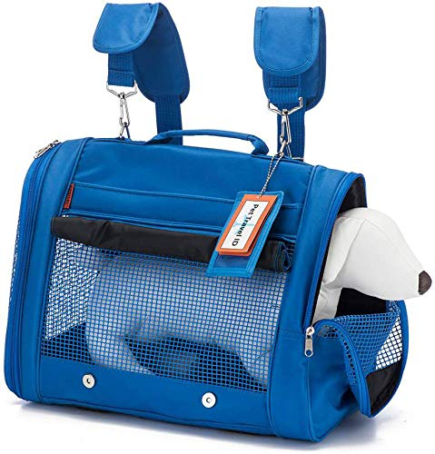 Prefer pets blue duffel-style cat carrier