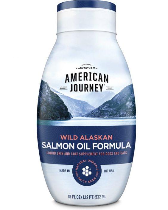 bottle of salmon oil