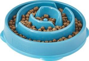 Outward Hound non-skid teal interactive bowl