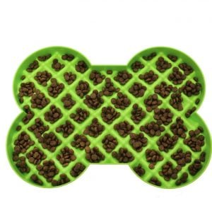 Hyper Pet SloDog bone-shaped slow feeder dish for dogs