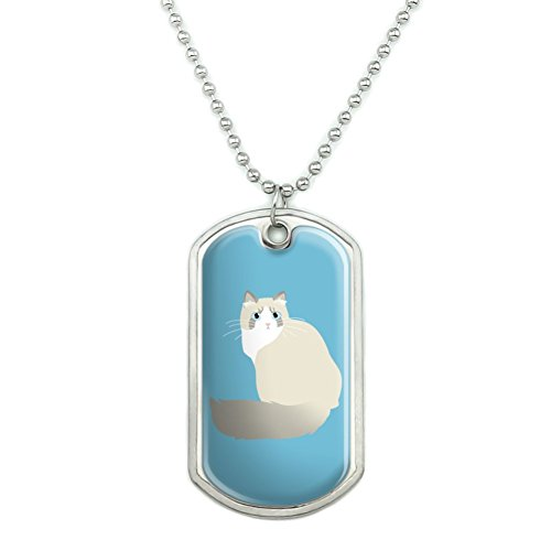blue military tag-style pendant for Ragdoll cat lovers