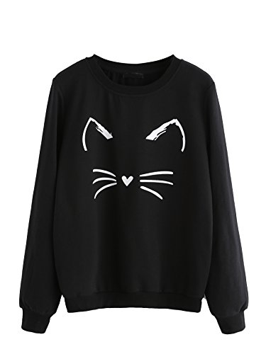 black sweatshirt with whiskers and ears