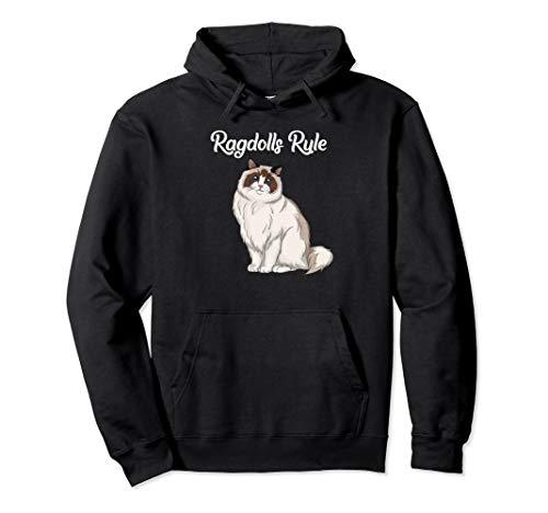 black sweatshirt for Ragdoll cat lovers