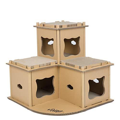 Petique multi-tier cardboard cat house