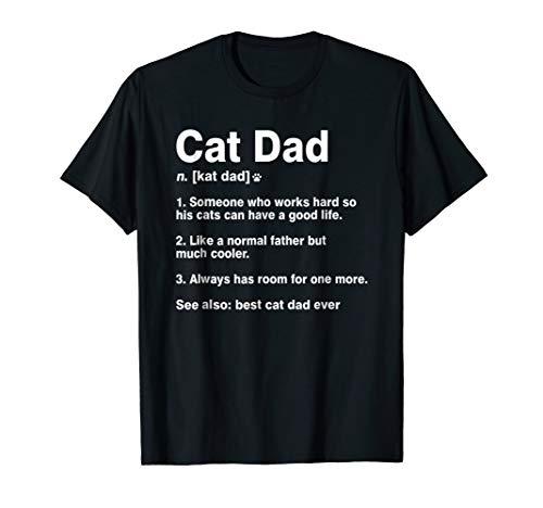 black cat dad definition shirt