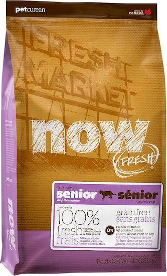 now fresh Senior cat food bag