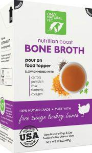 Only Natural Pet free-range turkey bone broth