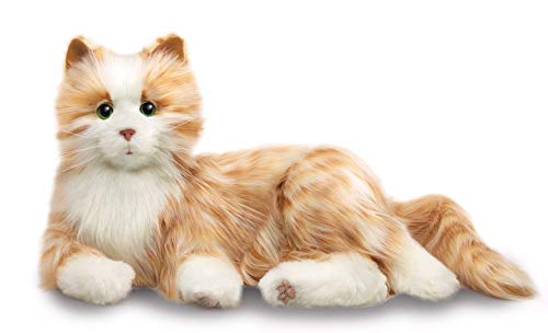interactive plush orange tabby cat gift