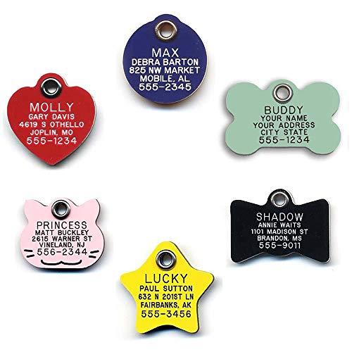 LuckyPet plastic cat collar tags