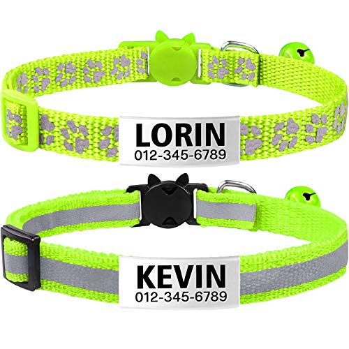 two TagMe reflective cat ID collars