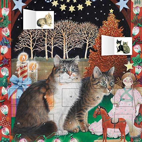 cats Christmas scene Advent calendar