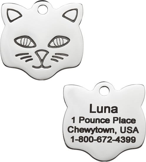 GoTags stainless cat ID tag