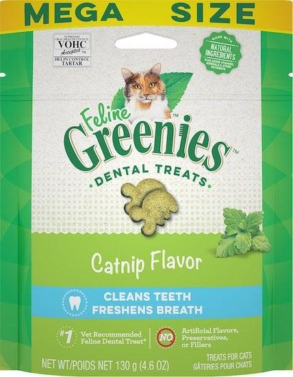 Greenies dental treats for cats