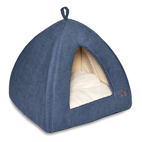 Best Pet Supplies cama estilo cueva en azul