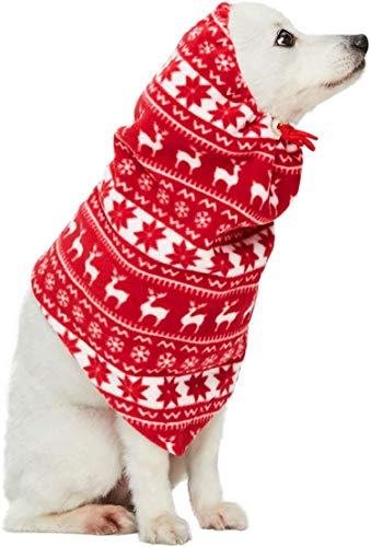 red and white festive winter holiday snood