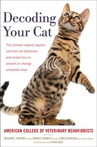 """""""Decoding Your Cat"""" cat behavior book"""