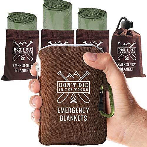Don't Die in the Woods emergency blankets