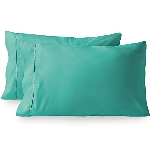 Bare Home green microfiber pillowcase set