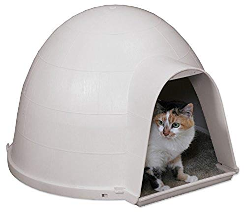dome-shaped outdoor cat house