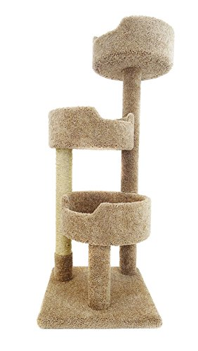 beige three-level cat furniture