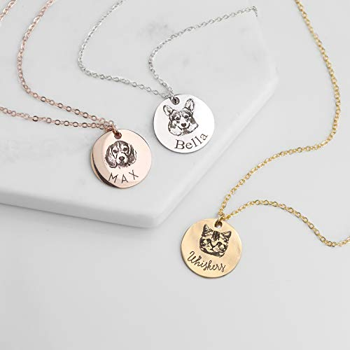 personalized pendant Valentine's Day gift for dog lovers