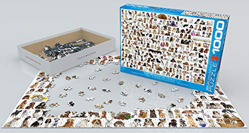 World of Dogs 1000 Piece Puzzle Valentine's Day gift for dog lovers