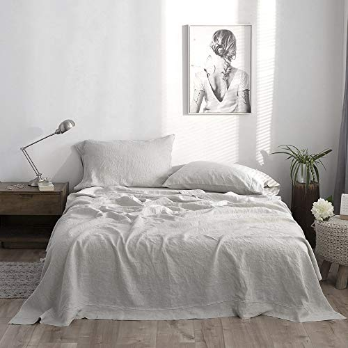 stone-washed French flax linen bedding