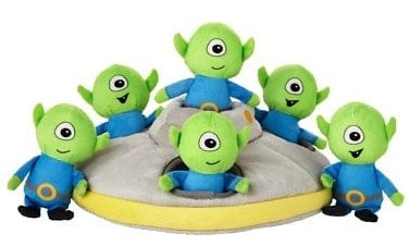 Product image of the Frisco Hide and Seek Plush Flying Saucer Puzzle Dog Toy