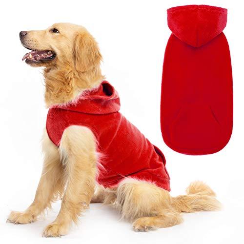 Expawlorer Fleece Dog Hoodies with Pocket