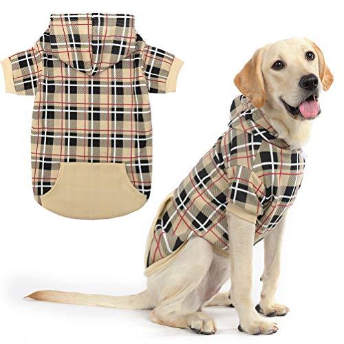 Expawlorer plaid dog hoodie