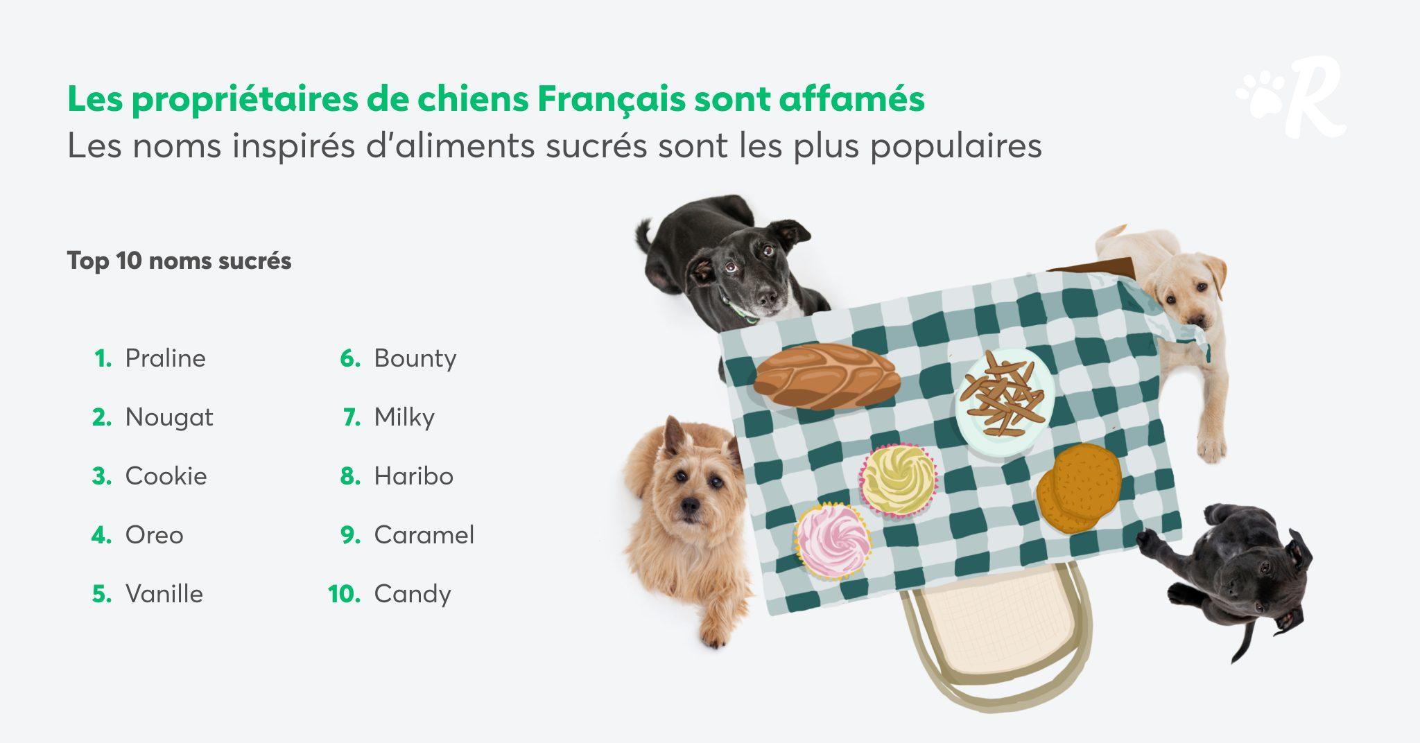 noms de chiens d'aliments