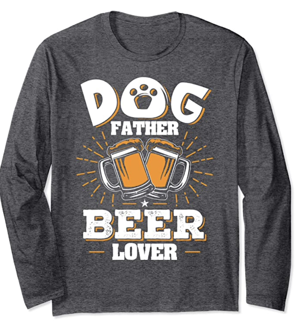Dog Dad Gifts T-Shirt Long Sleeves