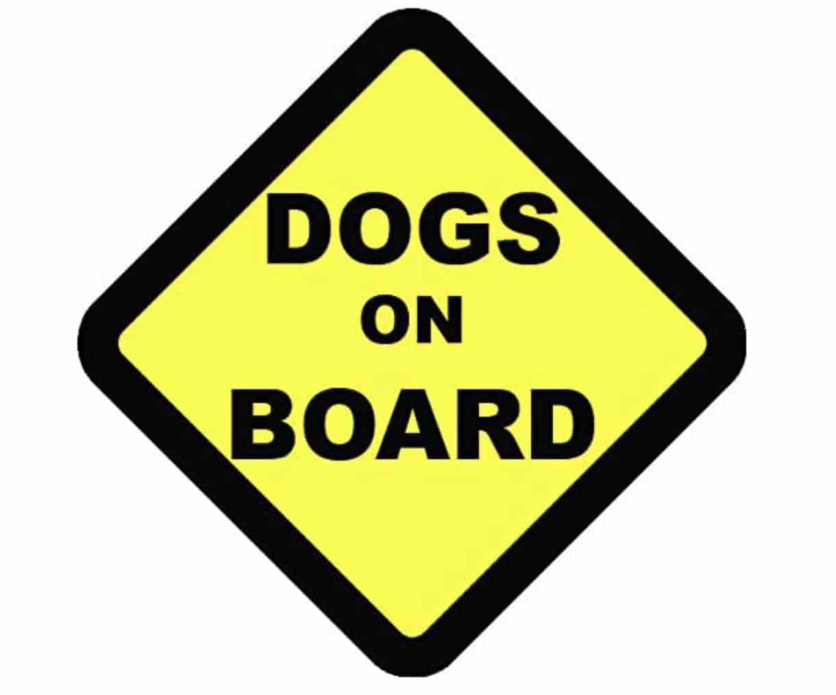 Dog Dad Gift Dogs on Board Sticker