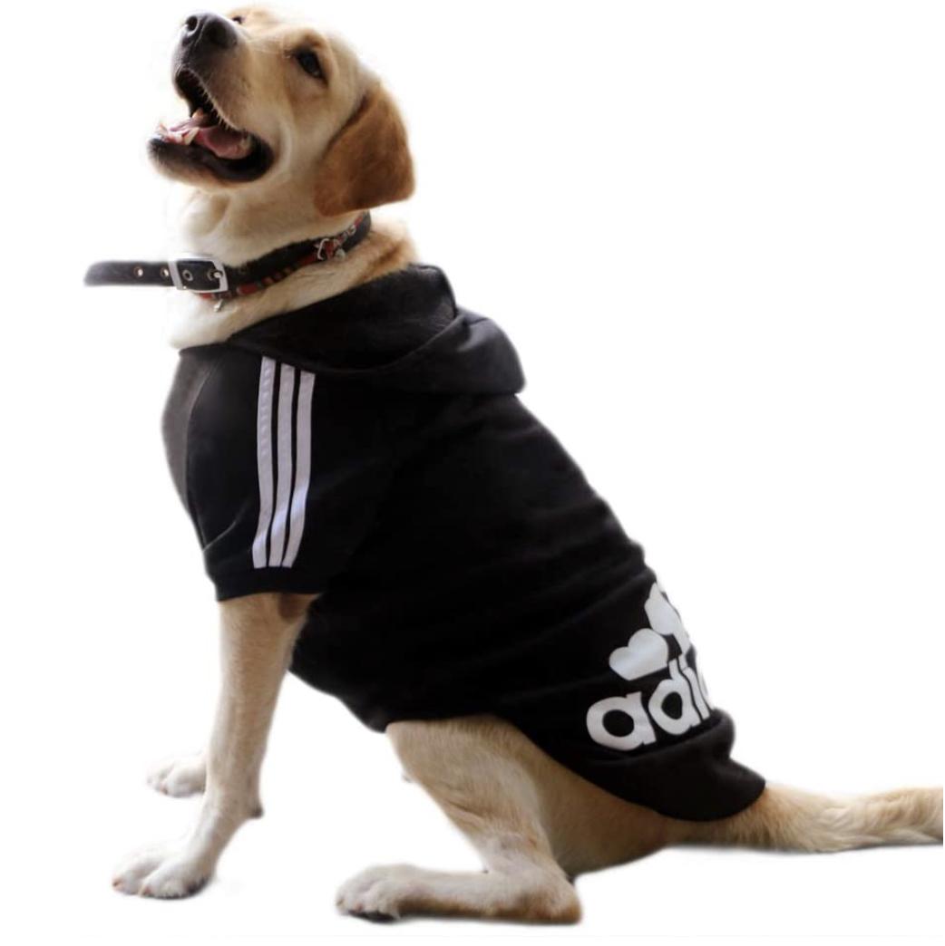 Large Dog Clothes Adidas Hoody